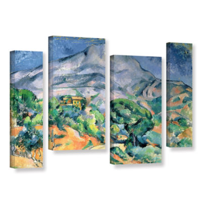 Brushstone Mont Sainte-Victoire 4-pc. Gallery Wrapped Staggered Canvas Wall Art
