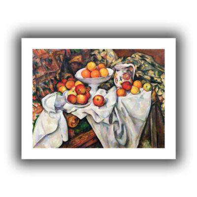 Brushstone Mont Sainte-Victoire From Les Lauves 1902-06 Canvas Wall Art