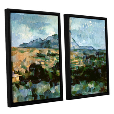 Brushstone Montagne Sainte-Victoire 2-pc. FloaterFramed Canvas Wall Art