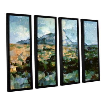 Brushstone Montagne Sainte-Victoire 4-pc. FloaterFramed Canvas Wall Art