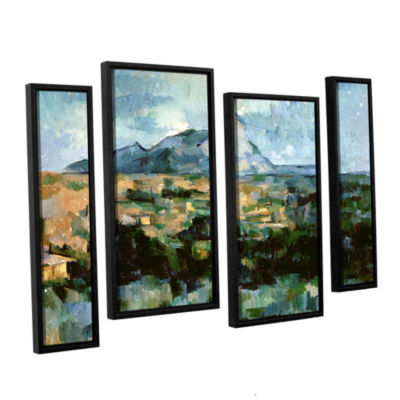 Brushstone Montagne Sainte-Victoire 4-pc. FloaterFramed Staggered Canvas Wall Art