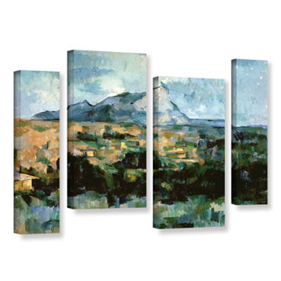 Brushstone Montagne Sainte-Victoire 4-pc. GalleryWrapped Staggered Canvas Wall Art