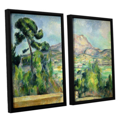 Brushstone Montagne Sainte-Victoire II 2-pc. Floater Framed Canvas Wall Art
