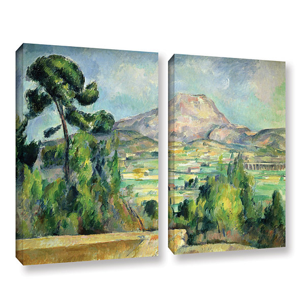 Brushstone Montagne Sainte-Victoire II 2-pc. Gallery Wrapped Canvas Wall Art