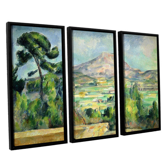 Brushstone Montagne Sainte-Victoire II 3-pc. Floater Framed Canvas Wall Art