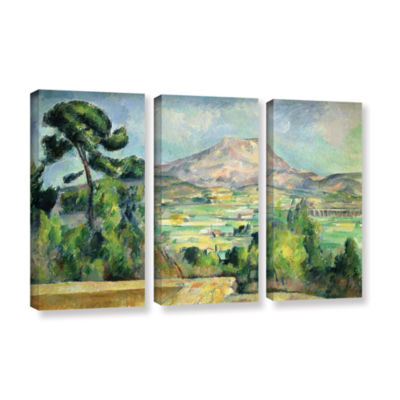 Brushstone Montagne Sainte-Victoire II 3-pc. Gallery Wrapped Canvas Wall Art