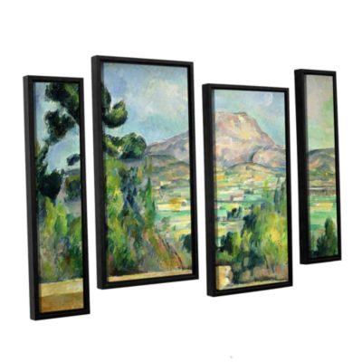 Brushstone Montagne Sainte-Victoire II 4-pc. Floater Framed Staggered Canvas Wall Art