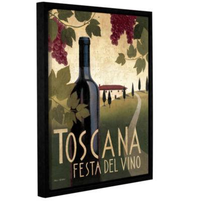 Brushstone Wine Festival Gallery Wrapped Floater-Framed Canvas Wall Art
