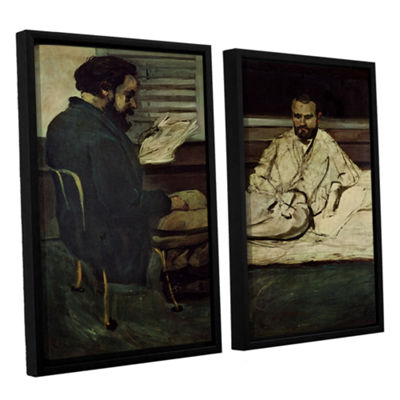 Brushstone Paul Alexis Reading a Manuscript to Emile Zola 2-pc. Floater Framed Canvas Wall Art