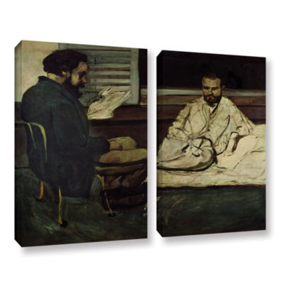 Brushstone Paul Alexis Reading a Manuscript to Emile Zola 2-pc. Gallery Wrapped Canvas Wall Art