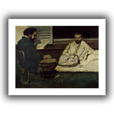Brushstone Paul Alexis Reading a Manuscript to Emile Zola Canvas Wall Art