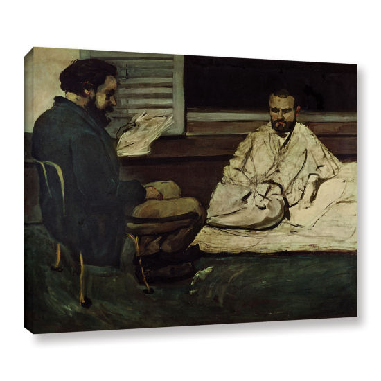 Brushstone Paul Alexis Reading a Manuscript to Emile Zola Gallery Wrapped Canvas Wall Art