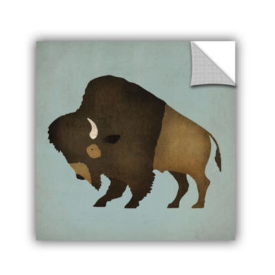 Brushstone Buffalo Bison I Removable Wall Decal