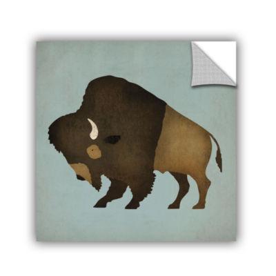 Brushstone Buffalo Bison I Removable Wall Decal