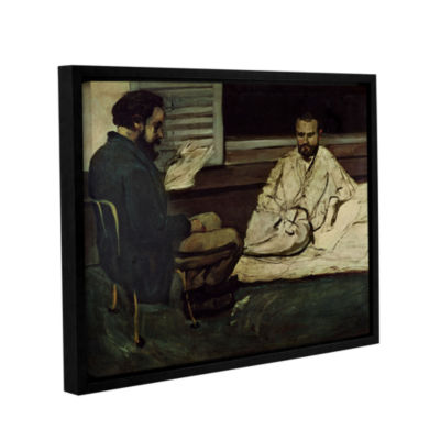 Brushstone Paul Alexis Reading a Manuscript to Emile Zola Gallery Wrapped Floater-Framed Canvas WallArt