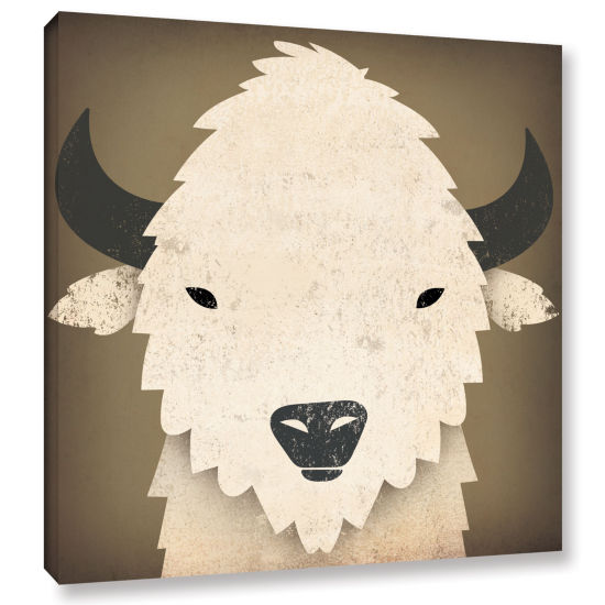 Brushstone Buffalo I Gallery Wrapped Canvas Wall Art