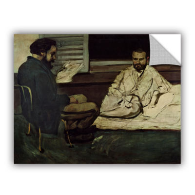 Brushstone Paul Alexis Reading a Manuscript to Emile Zola Removable Wall Decal