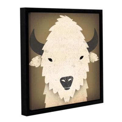Brushstone Buffalo I Gallery Wrapped Floater-Framed Canvas Wall Art