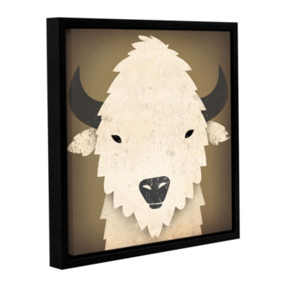 Brushstone Buffalo I Gallery Wrapped Floater-Framed Canvas Wall Art