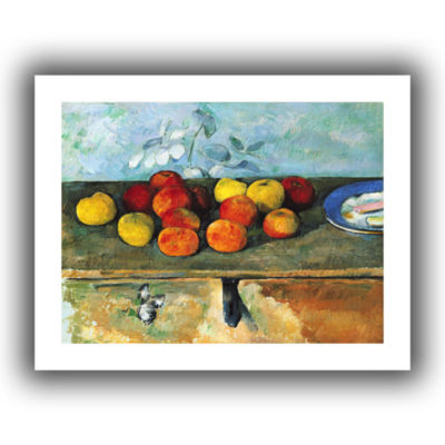Brushstone Still Life of Apples and Biscuits Canvas Wall Art