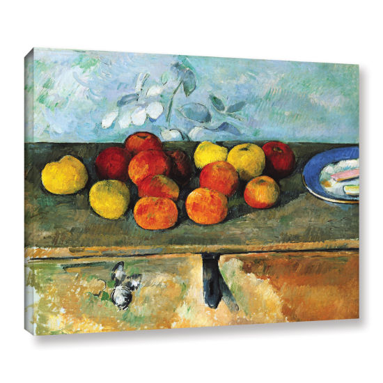 Brushstone Still Life of Apples and Biscuits Gallery Wrapped Canvas Wall Art