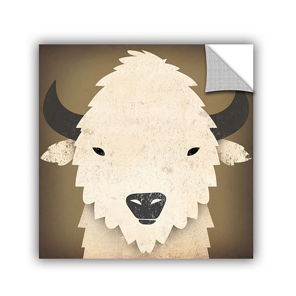 Brushstone Buffalo I Removable Wall Decal