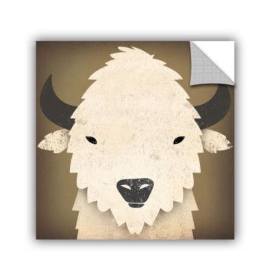 Brushstone Buffalo I Removable Wall Decal