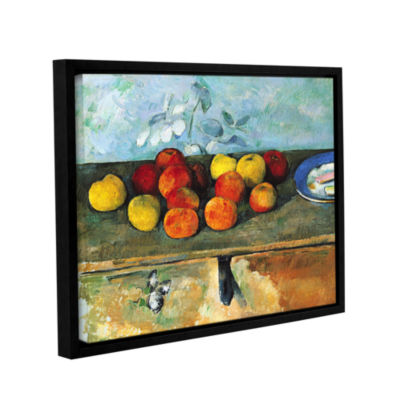 Brushstone Still Life of Apples and Biscuits Gallery Wrapped Floater-Framed Canvas Wall Art