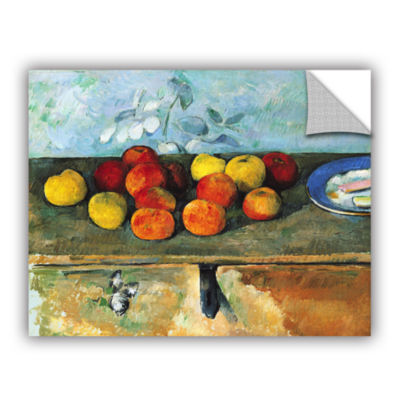 Brushstone Still Life of Apples and Biscuits Removable Wall Decal