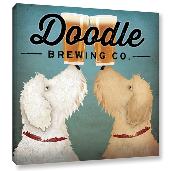 Brushstone Doodle Beer Double Gallery Wrapped Canvas Wall Art