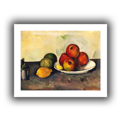 Brushstone Still Life with Apples Canvas Wall Art