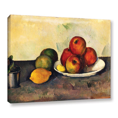 Brushstone Still Life with Apples Gallery WrappedCanvas Wall Art