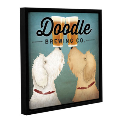 Brushstone Doodle Beer Double Gallery Wrapped Floater-Framed Canvas Wall Art