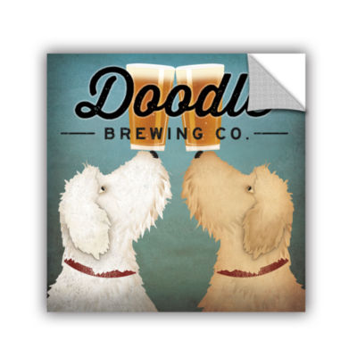 Brushstone Doodle Beer Double Removable Wall Decal