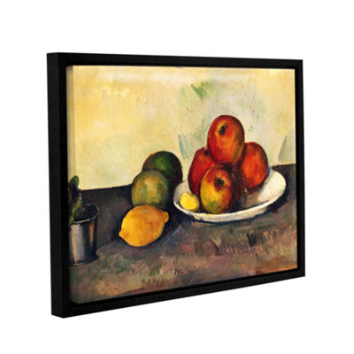 Brushstone Still Life with Apples Gallery WrappedFloater-Framed Canvas Wall Art