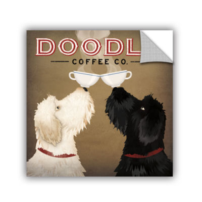 Brushstone Doodle Coffee Double IV Removable WallDecal