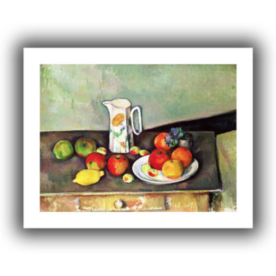 Brushstone Still Life with Milk Jug and Fruit Canvas Wall Art