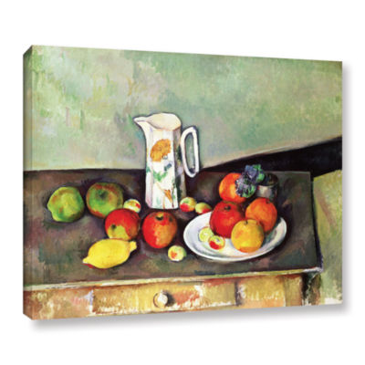Brushstone Still Life with Milk Jug and Fruit Gallery Wrapped Canvas Wall Art
