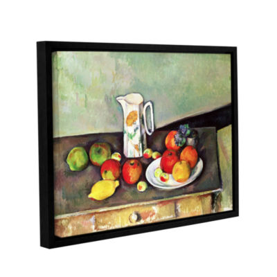 Brushstone Still Life with Milk Jug and Fruit Gallery Wrapped Floater-Framed Canvas Wall Art