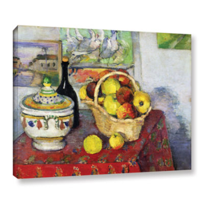 Brushstone Still Life with Tureen Gallery WrappedCanvas Wall Art