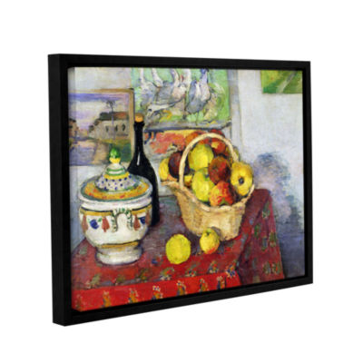 Brushstone Still Life with Tureen Gallery WrappedFloater-Framed Canvas Wall Art