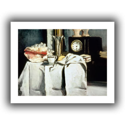 Brushstone The Black Marble Clock Canvas Wall Art