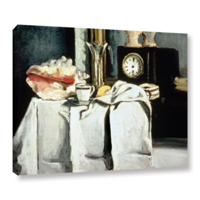 Brushstone The Black Marble Clock Gallery WrappedCanvas Wall Art