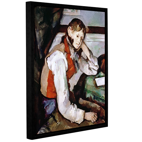 Brushstone The Boy in The Red Waistcoat Gallery Wrapped Floater-Framed Canvas Wall Art