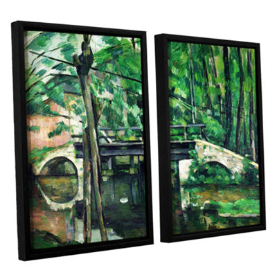 Brushstone The Bridge at Maincy or The Bridge at Mennecy or The Little Bridge 2-pc. Floater Framed Canvas Wall Art