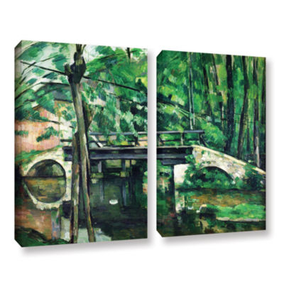 Brushstone The Bridge at Maincy or The Bridge at Mennecy or The Little Bridge 2-pc. Gallery WrappedCanvas Wall Art