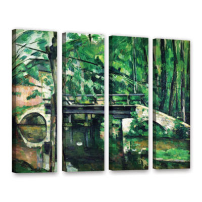 Brushstone The Bridge at Maincy or The Bridge at Mennecy or The Little Bridge 4-pc. Gallery WrappedCanvas Wall Art