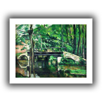 Brushstone The Bridge at Maincy or The Bridge at Mennecy or The Little Bridge Canvas Wall Art