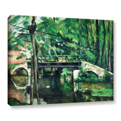 Brushstone The Bridge at Maincy or The Bridge at Mennecy or The Little Bridge Gallery Wrapped CanvasWall Art