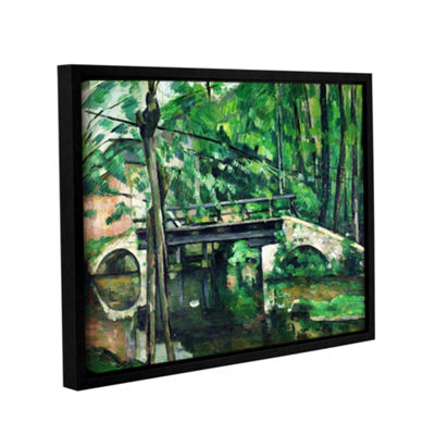 Brushstone The Bridge at Maincy or The Bridge at Mennecy or The Little Bridge Gallery Wrapped Floater-Framed Canvas Wall Art